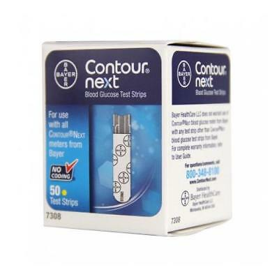 Bayer Contour Next Blood Glucose Test Strips Box of 50 Exp. 5/2019