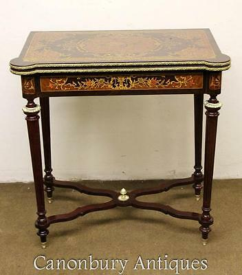 French Games Table - Louis XVI Marquetry Chess Tables
