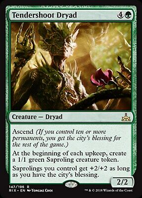 MRM ENGLISH Dryade de jeunes pousses - Tendershoot Dryad MTG Magic RIX