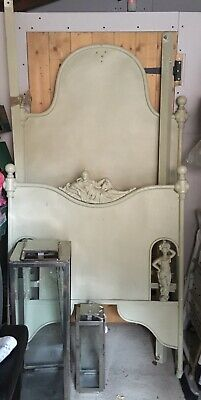 Antique French Single Iron Metal Bed