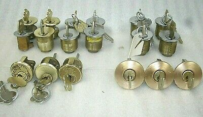 Lot of 18 various Used Lock Cylinders Working-LOCKSMITH-Corbin-Others w/Keys