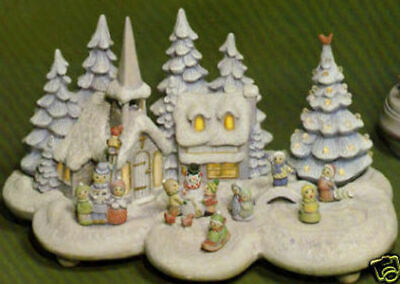 Ceramic Bisque Hand-Painted Small Christmas Village