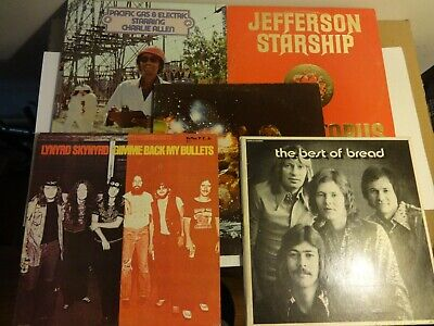 "Lot of 5 Classic Rock Vinyl Records Classic Rock Vinyl Lot Albums 12"" Lps"
