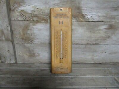 Vintage International Harvester IH Hancock's Tractor Sales Thermometer Kentucky