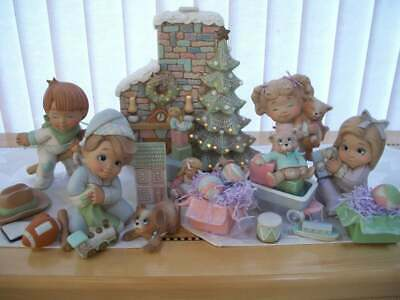 Ceramic Bisque Hand-Painted Christmas Morning Sweet Tots