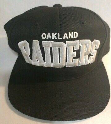 d3ca11b1 NFL Oakland Raiders Mitchell and Ness Vintage Snapback Cap Hat Black &  Silver