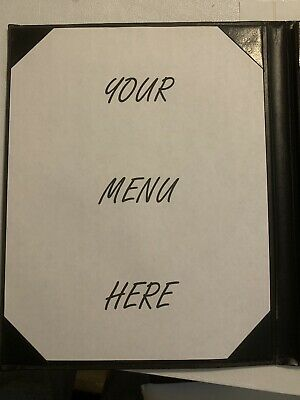 18 4-Page Menu Covers Black Leather