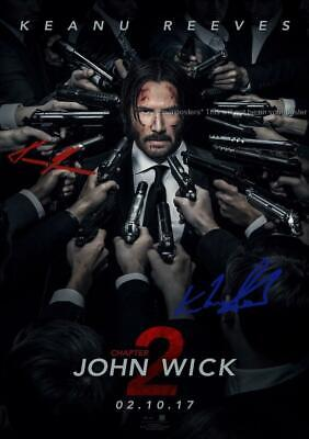 """John Wick Chapter 2 Pp Signed 12""""X8"""" A4 Photo Poster Keanu Reeves Ian Mcshane"""