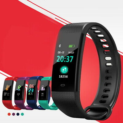 For iOS Android Smart Watch Wristband Sport Blood Pressure Heart Rate Monitor