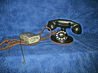 Bell Cradle Telephone Vintage Art Deco Dial Phone W/ Ringer Box Estate Fresh