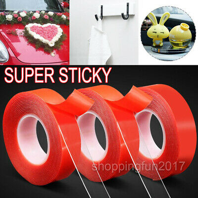 6M Double-sided Clear Acrylic Foam Adhesive Tape Heat Resistant Super Sticky AU