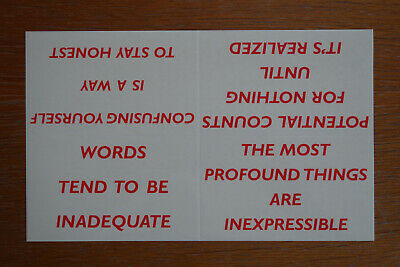 JENNY HOLZER, Triusm-Stickers, 1999, Multiple, edition of 600, RARE