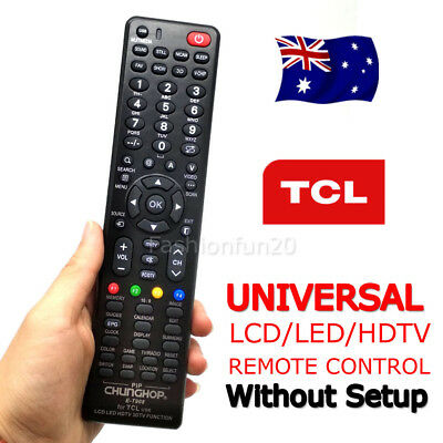 TCL Smart TV Universal Remote Control NO PROGRAMMING For 3D HDTV LED LCD TV OZ