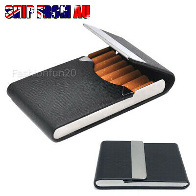 Pocket Cigarette Case Tobacco Cigar Storage Box Flip Top Holder Container OZ