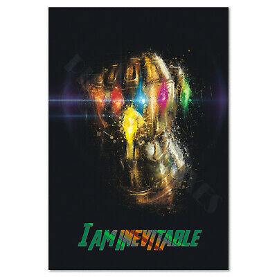 Avengers Endgame Movie Poster - Infinity Gauntlet Art - High Quality Prints