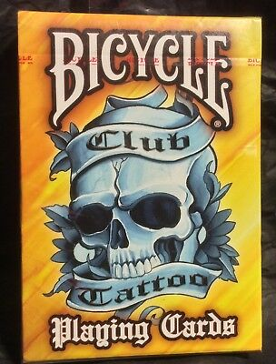 Bicycle Club Yellow Tattoo Playing Cards Created by Chester Bennington