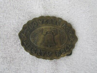 1976 Vintage [200 YEARS AGO LIBERTY BELL] ~Belt Buckle ~GREAT ITEM!!!