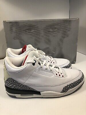 newest 7818e e1ceb RARE 2003 NIKE Air Jordan 3 White Cement Size 13 136064-102 VNDS W/ OG BOX