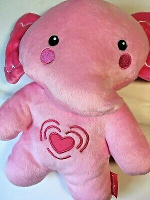 Fisher Price Pink Elephant Calming Vibrations Soother Musical Pink Heart Toy