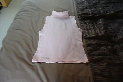 Ladies Wallis pink roll neck sleeveless top