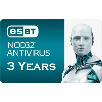 2019 ESET NOD32 Antivirus  -  3 Computers 3 years - Instant EMAIL Delivery