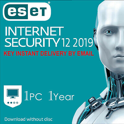 2019 ESET NOD32 Internet Security 1 PC ,1 Year, GLOBAL - Instant Delivery