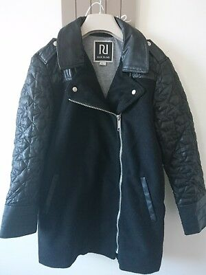 River island girls faux leather details jacket coat 9 years great condition