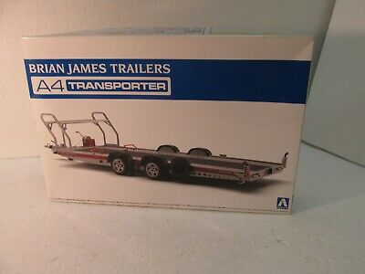 Aoshima Tuned Parts SP Brian James Trailers A4 Transporter 1//24 scale kit Japan