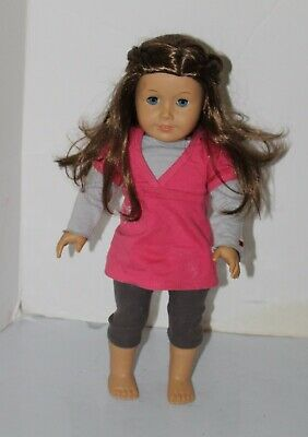Adorable American Girl JLY DOLL  BLUE EYES  BROWN HAIR, FRECKLES