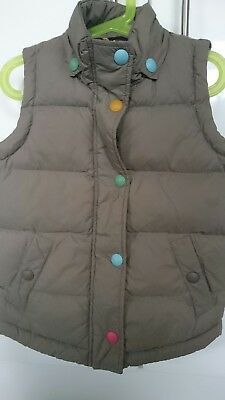 Joules little joules girls padded gillet body warmer choc 6 years great cond