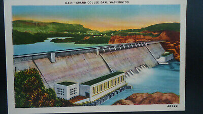 Vintage Postcard. Grand Coulee Dam, WA. Not Addressed, Not Stamped