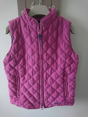 Joules girl quilted gilet body warmer 8 years VGC