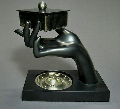 Rare Art Deco FRANKART Smokers Stand Set T336 ca.1930's Signed ~ Awesome Piece!