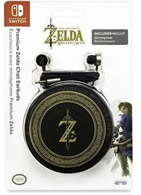 Official Legend of Zelda Breath of the Wild Chat Earbuds Nintendo Switch