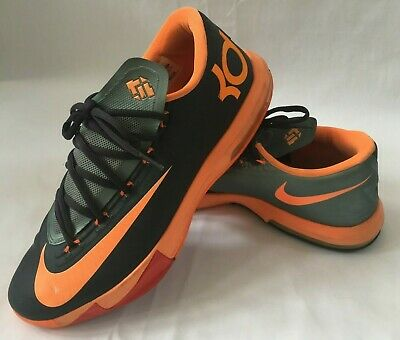low priced 4ae89 267cb Nike KD VI 6 Anthracite Kevin Durant 599424-007 Black Total Orange Size 9.5M