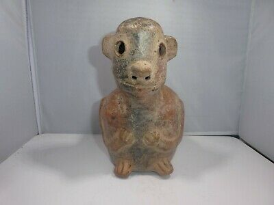 Authentic Large Pre Columbian Animal Stirrup Vessel From Major Auction House