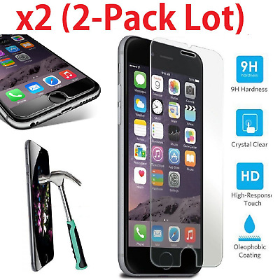 2-Pack Tempered Glass Premium Screen Protector iPhone 6 7 8 X / XS / XR / XS Max