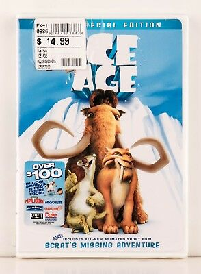 ICE AGE -  DVD - Special Edition -  Full & Widescreen - 2002 - NEW