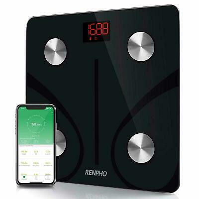 RENPHO Bluetooth Body Fat Scale Smart Digital Wireless BMI Weight Monitor Black