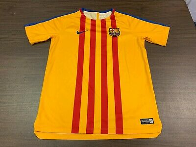 3824a6964 YOUTH FC BARCELONA Soccer Shorts New Gray Official Messi Large Boys ...