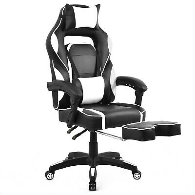 Merax High-Back Racing Ergonomic Gaming Swivel Computer Chair Headrest Footrest
