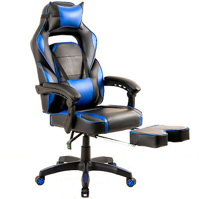 Merax Racing Desk Gaming Home Office Computer Chair Ergonomic Footrest Armrests