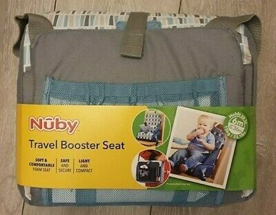Nuby Baby Travel Waterproof Booster Seat Adjustable 3 Point Harness Safety Strap