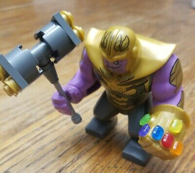 LEGO Authentic Thanos with COMPLETE Gauntlet Avengers Endgame 76131 Brand New