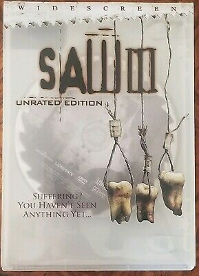 Saw III DVD Unrated Complete with original slip cover Used Very Good $2.50