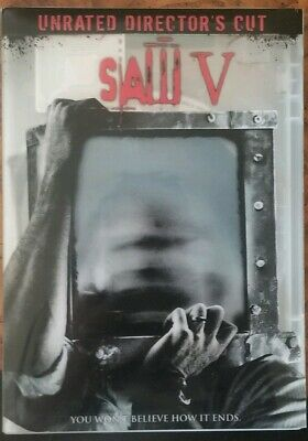 Saw V DVD Widescreen Unrated Director's Cut Complete Very Good $1.50
