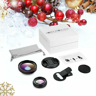 Universal 37mm Thread Clip HD Wide Angle Lens  Macro Lens+ Lens Cover US STOCK