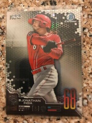 2019 Bowman Chrome Scouts Top 100 #68 Jonathan India  Reds