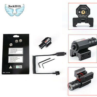 Tactical Hunting Red Laser Sight ScopeDovetail Rail Mount Remote Pressure Switch