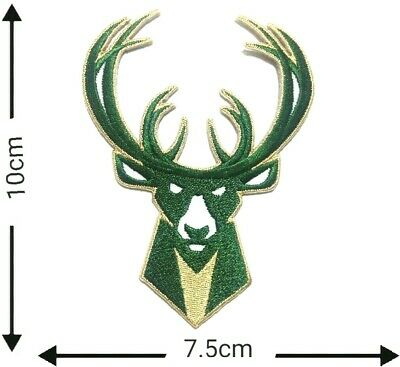 Milwaukee Bucks Basketball sport Embroidery Patch on iron, sewing on Clothes